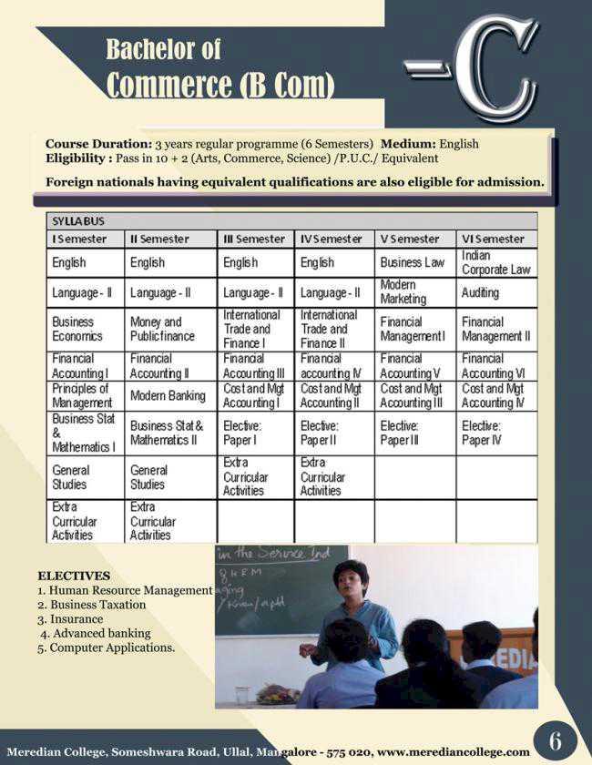 Bachelor of Commerce